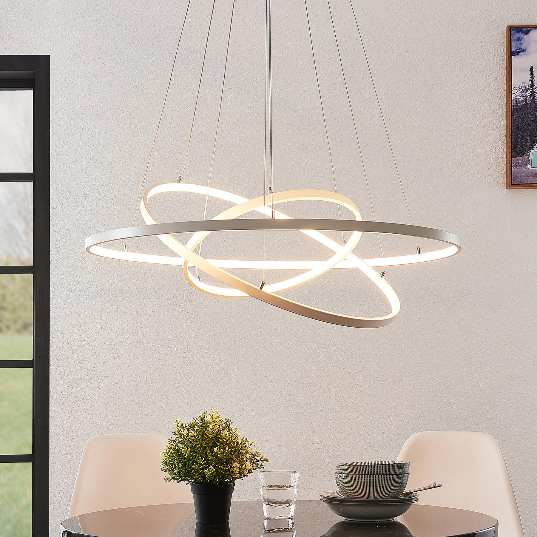 Lindby Philline lampa wisząca LED, Ø 80 cm