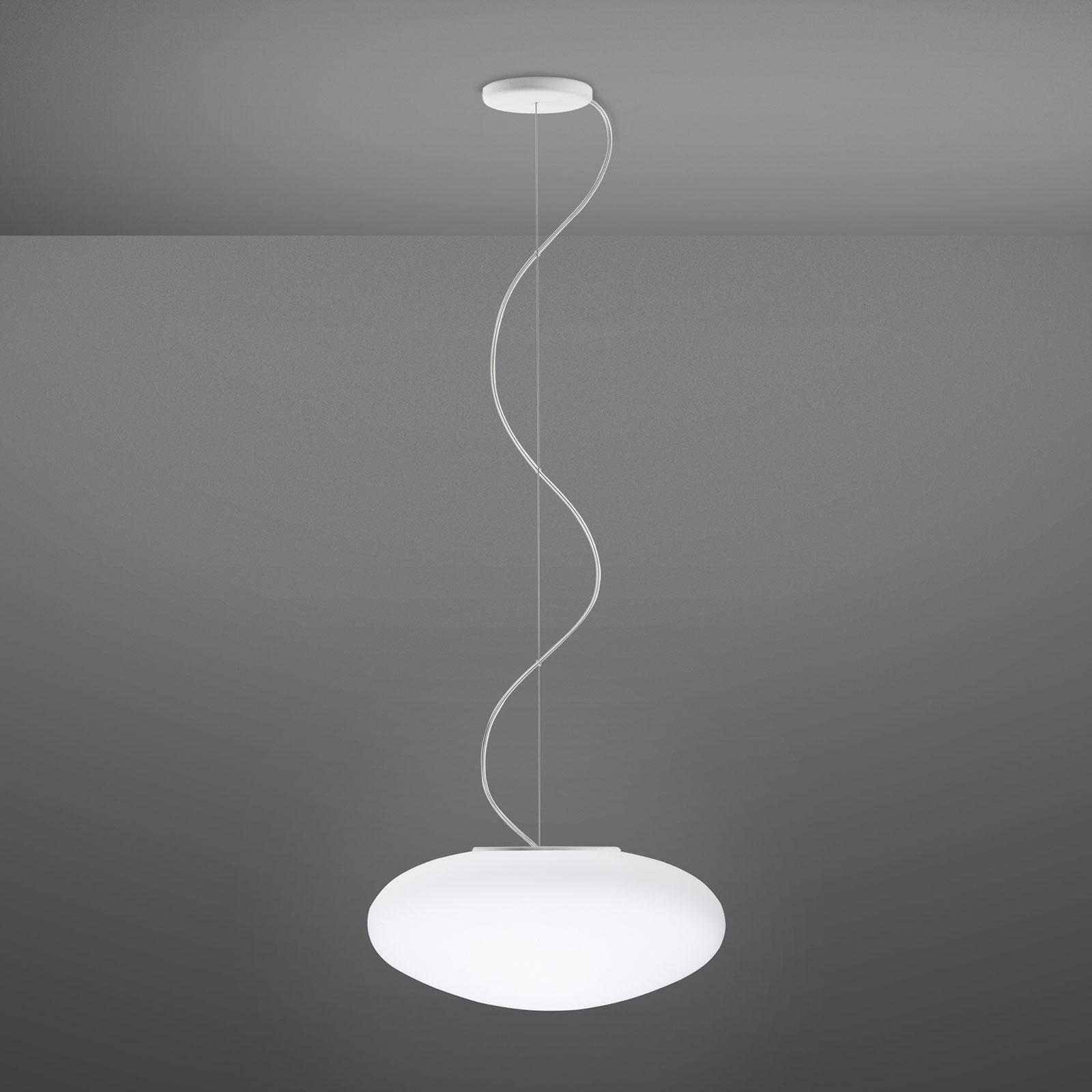 Fabbian Lumi White skleněné závěsné světlo, Ø 42cm