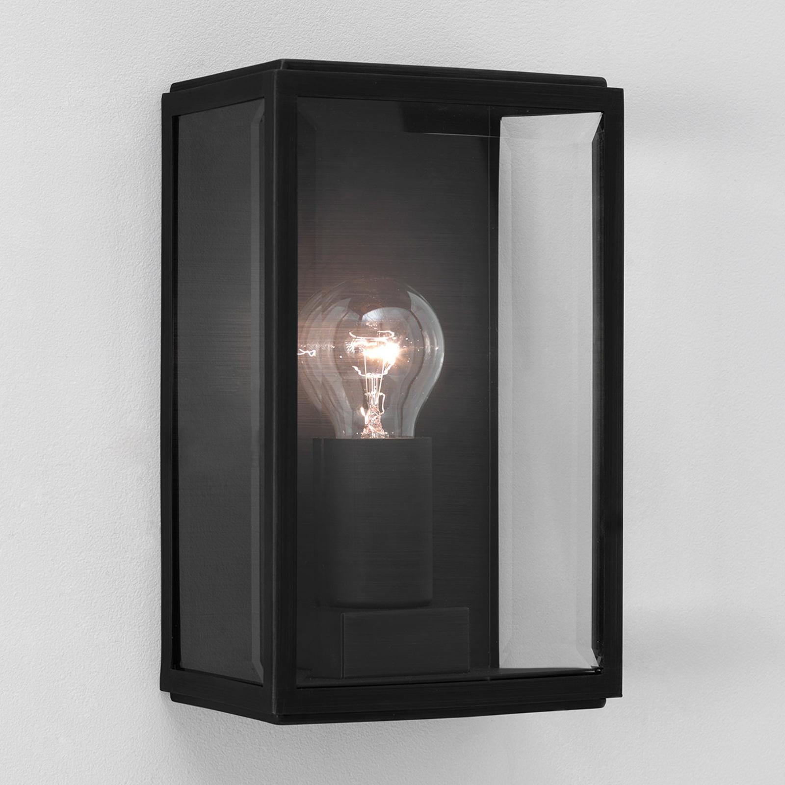 Flot HOMEFIELD SQUARE udendørs væglampe i sort