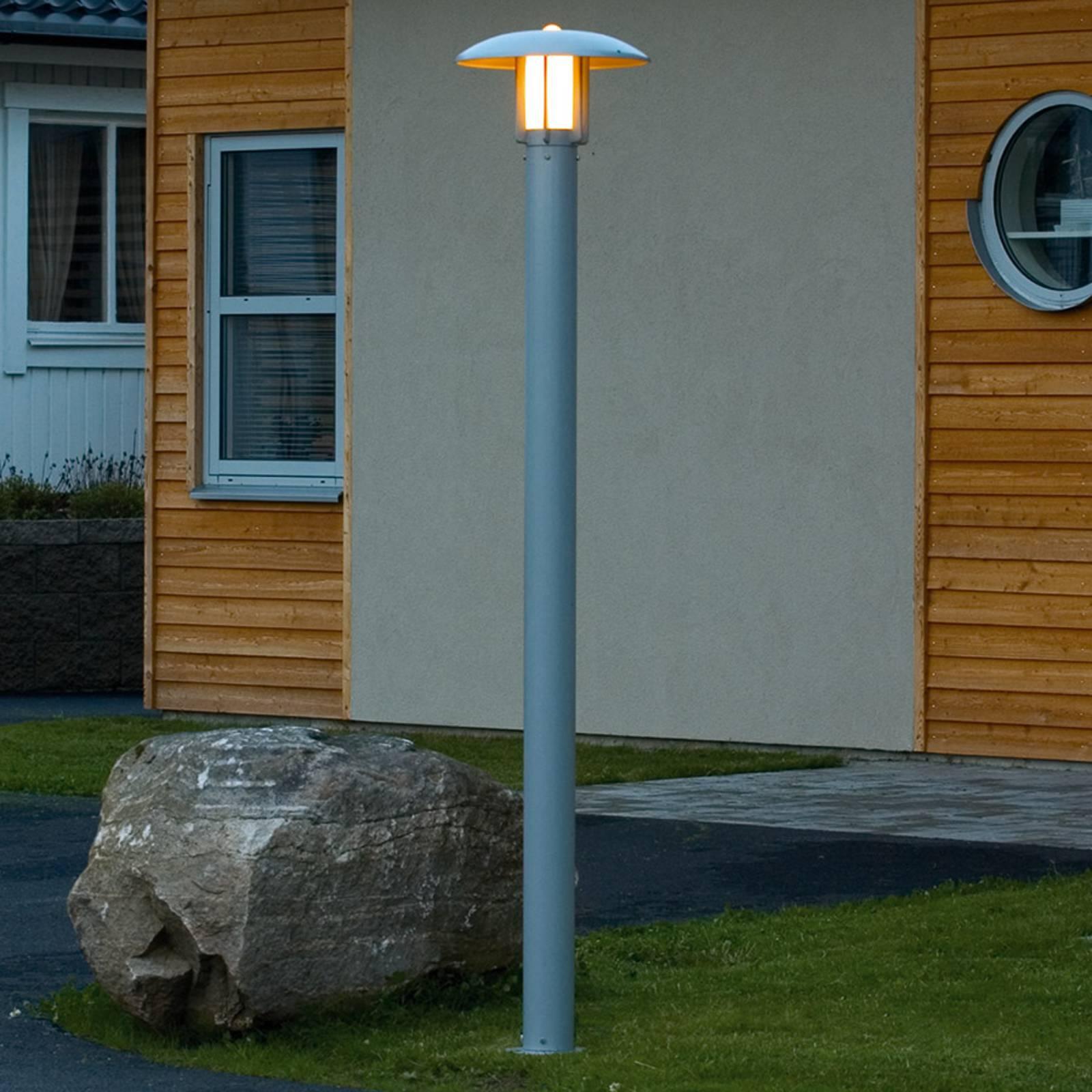 Zilverkleurig gelakte lantaarnpaal Heimdal