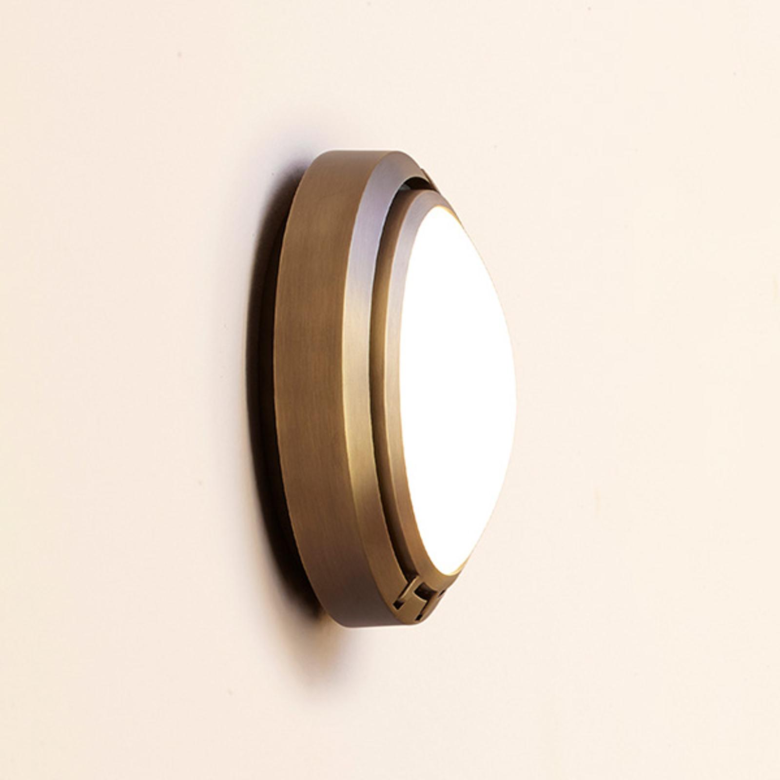 Luceplan Metropoli applique bronze verre 17cm