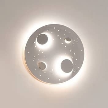Knikerboker Buchi LED-vegglampe Ø 40 cm hvit