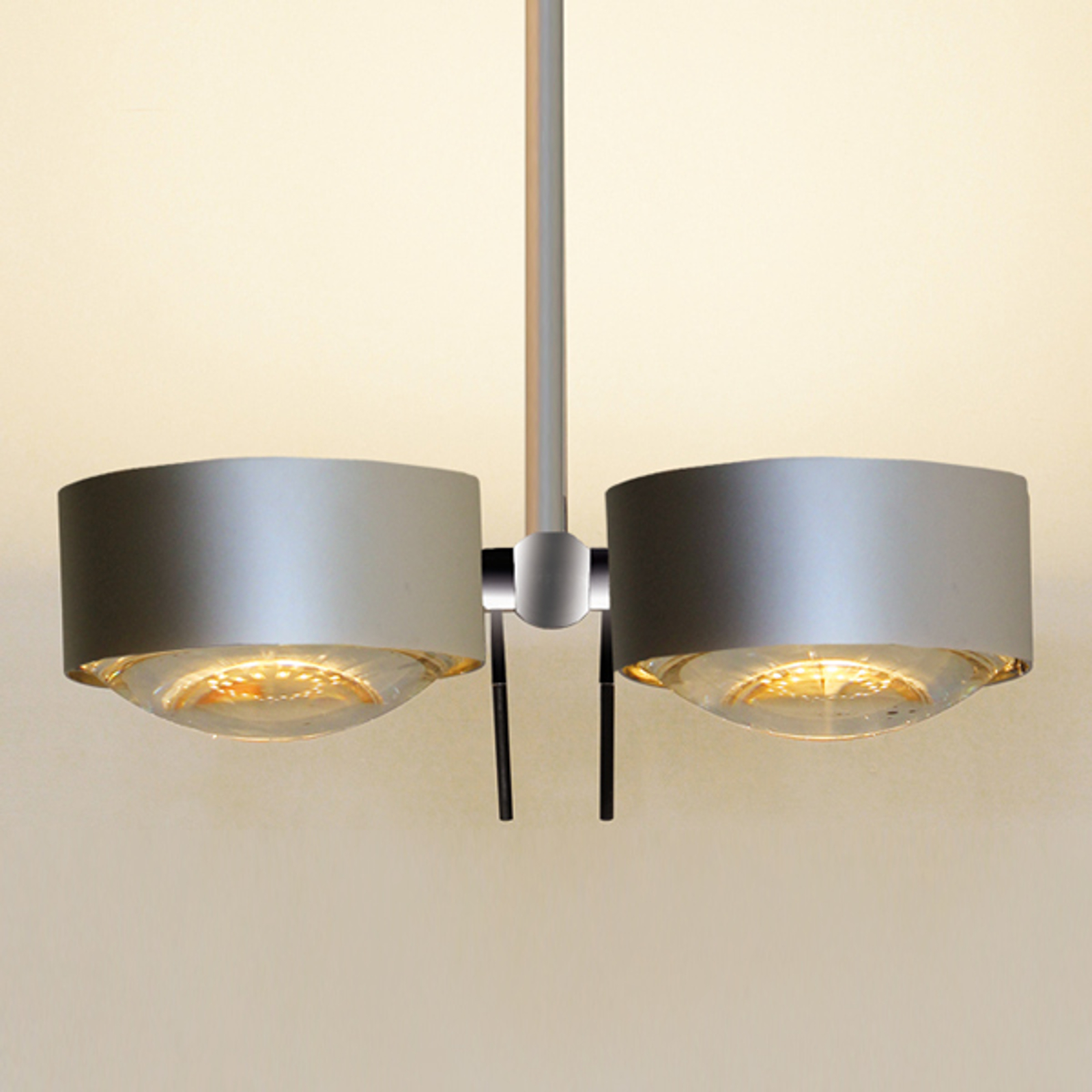 2-pkt. lampa sufitowa PUK SIDES, chrom mat 30 cm
