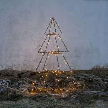 Utendørs LED-deko Light Tree Foldy, høyde 135 cm
