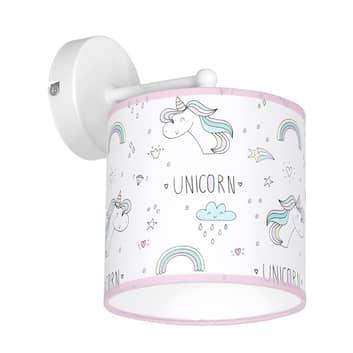 Applique Unicorn, bianco, con motivo unicorno
