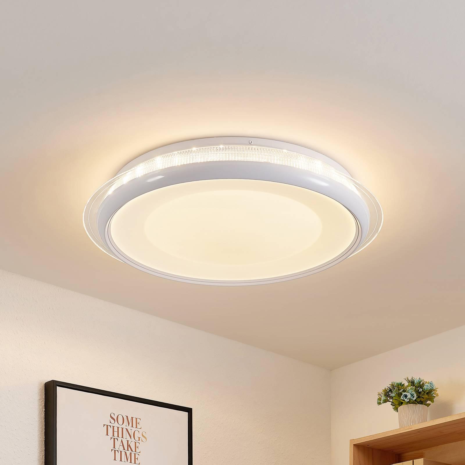 Lindby Olani LED plafondlamp, CCT, dimbaar