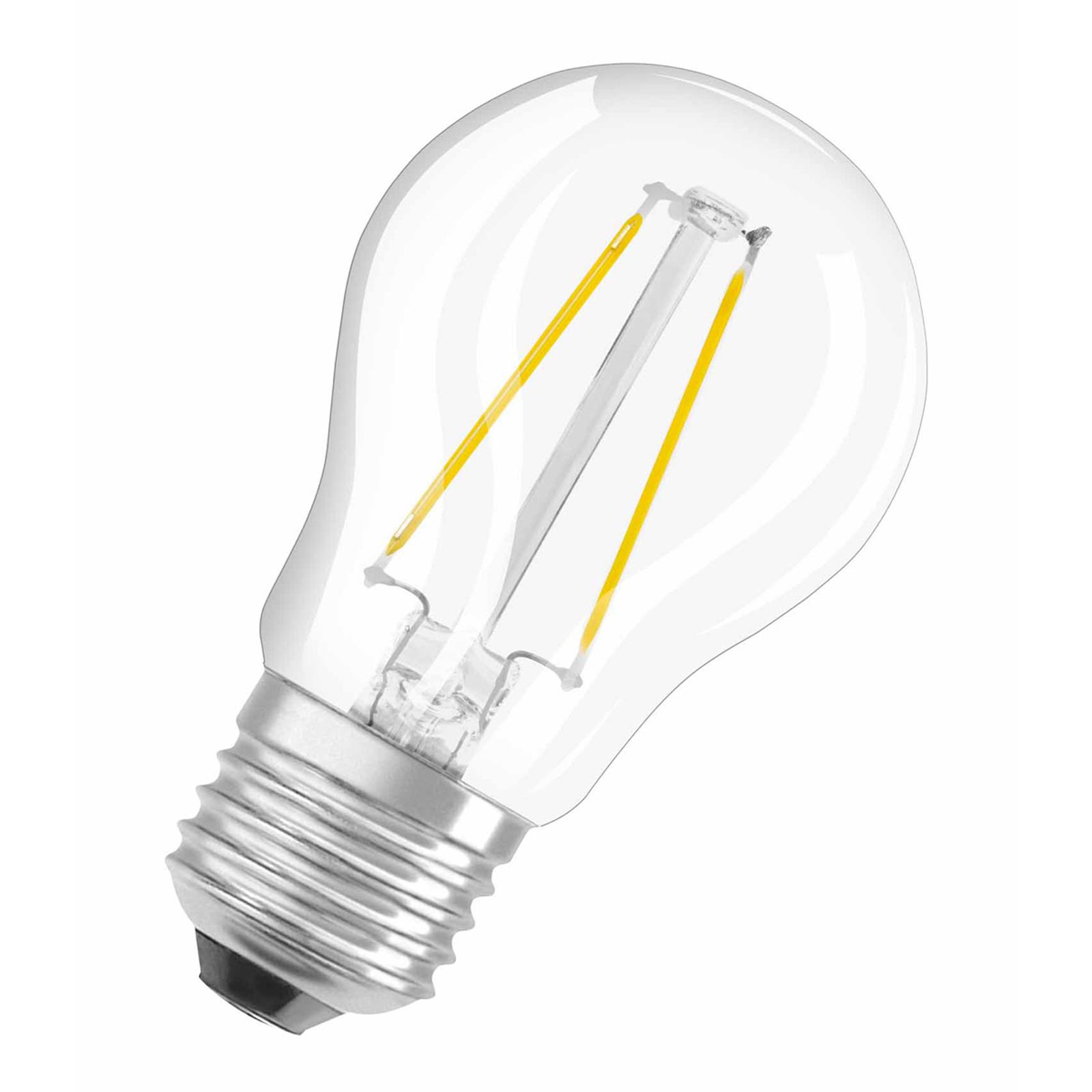 OSRAM lampadina LED E27 1,5W goccia filamenti 827