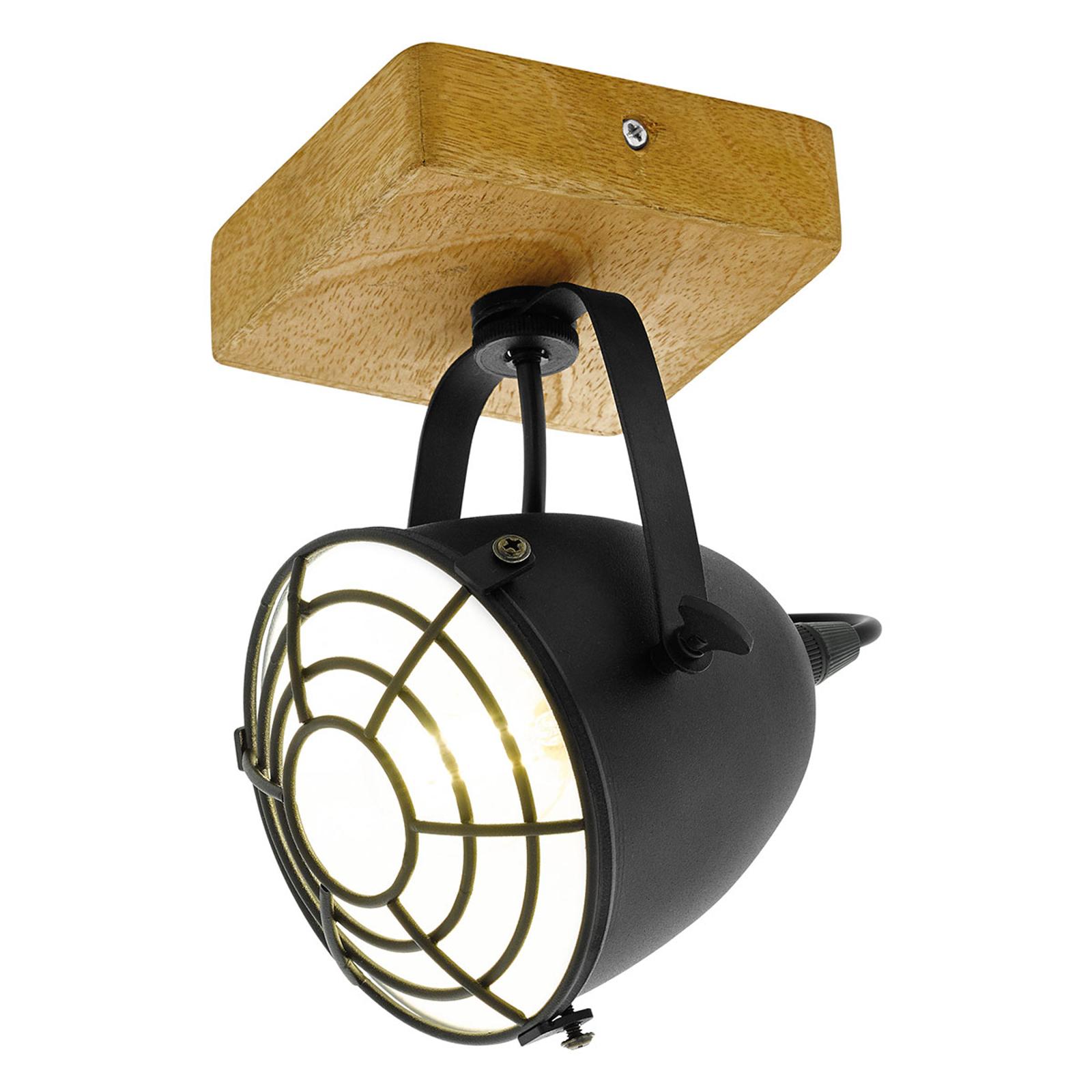 Faretto Gatebeck, legno e metallo, 1 luce