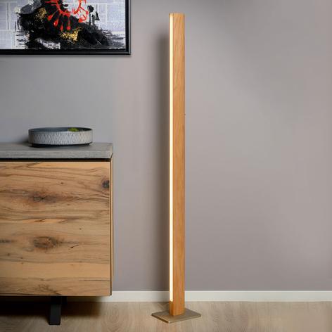 LED-gulvlampe Sytze i tre