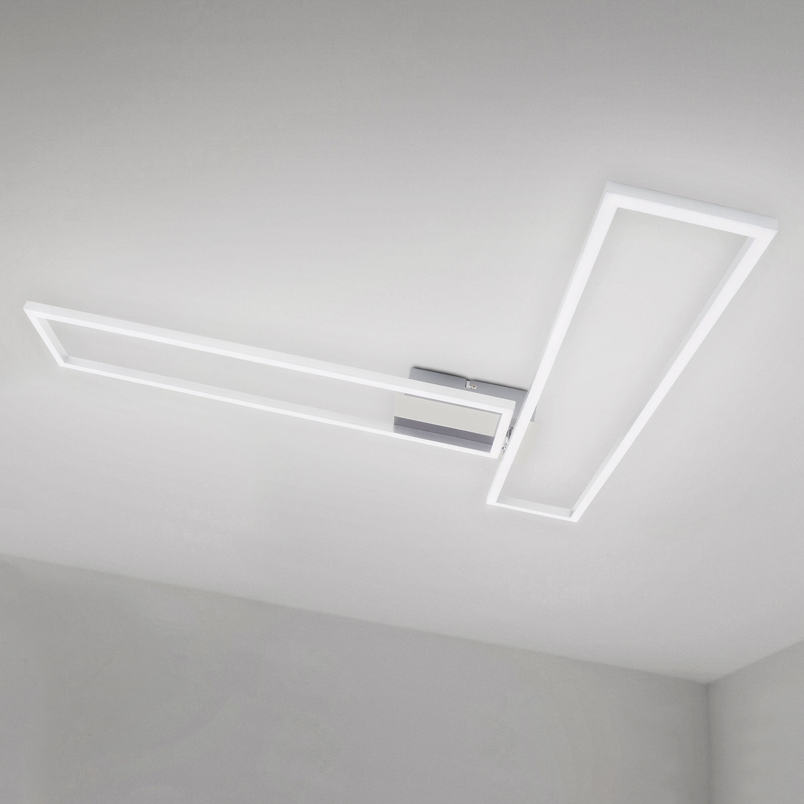Plafonnier Frame WiFi CCT, télécommande, aluminium