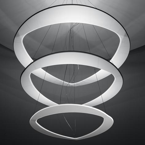 ICONE Diadema - weiße Designer-LED-Hängeleuchte