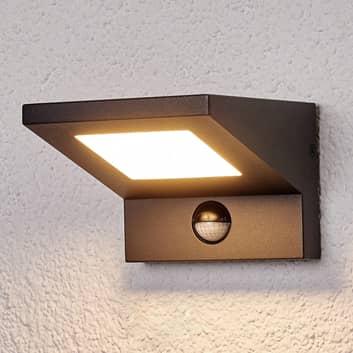 LED-utomhusvägglampa Levvon med rörelsesensor