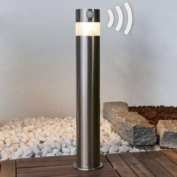 Kalypso – LED-solar-sockellampa i rostfritt stål