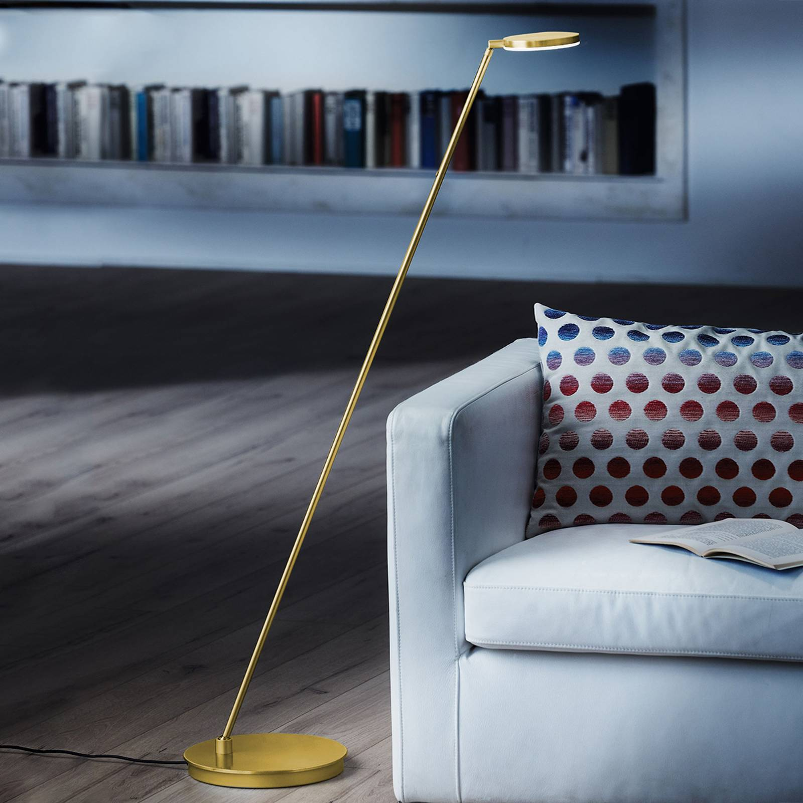 Holtkötter Plano S - LED vloerlamp, messing