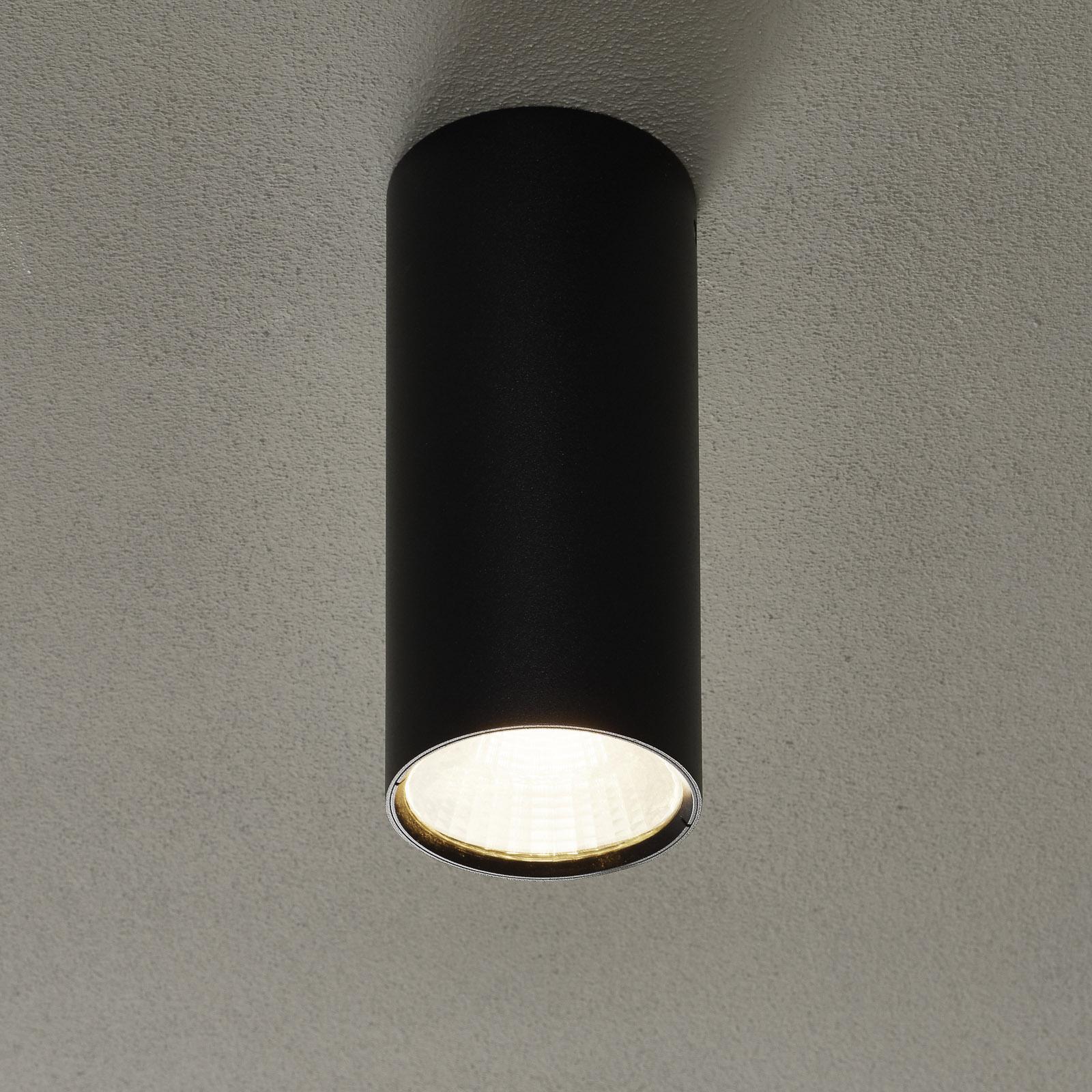 Lucande Takio LED-downlight 2700K Ø10cm svart