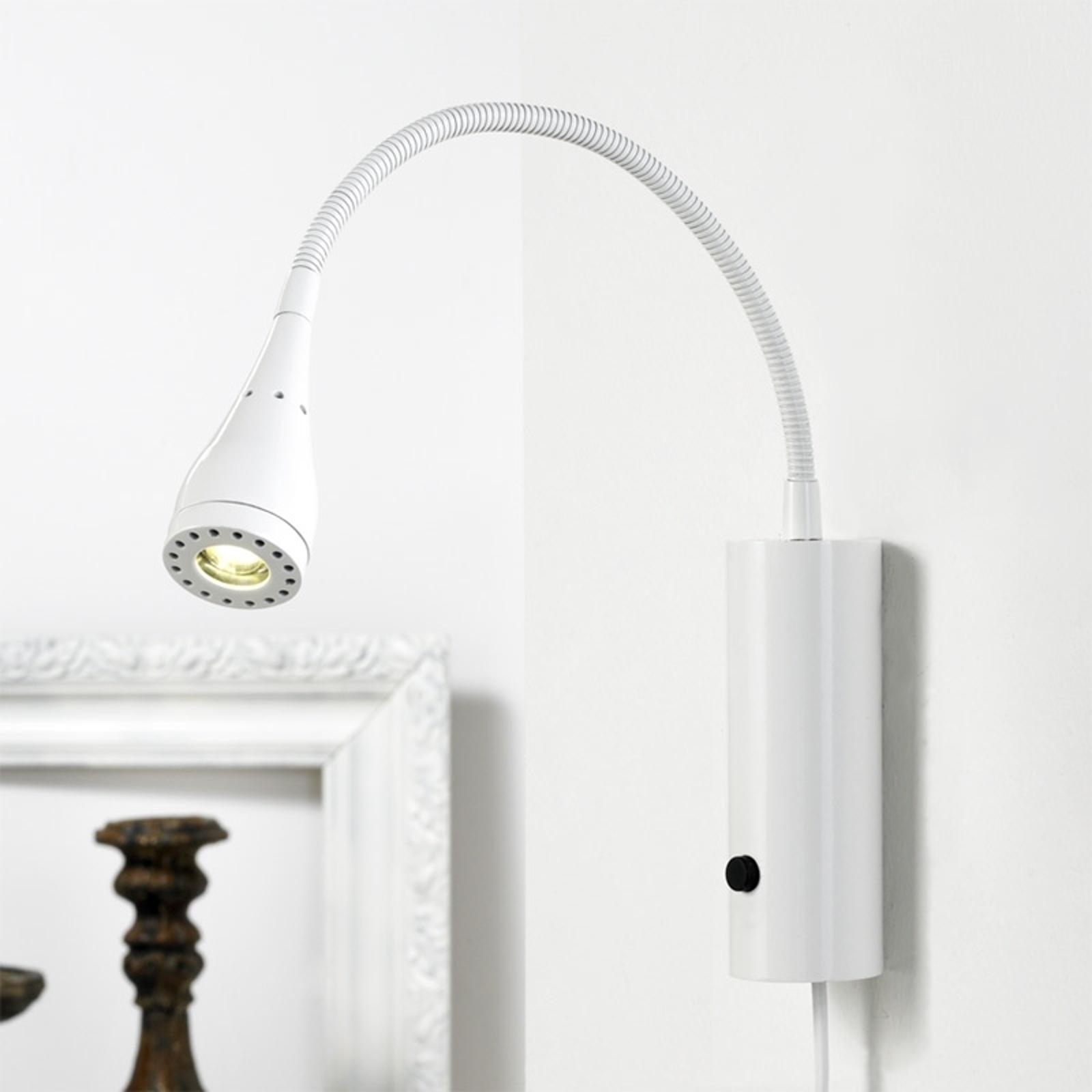 Led-wandlamp Mento met flexarm, wit
