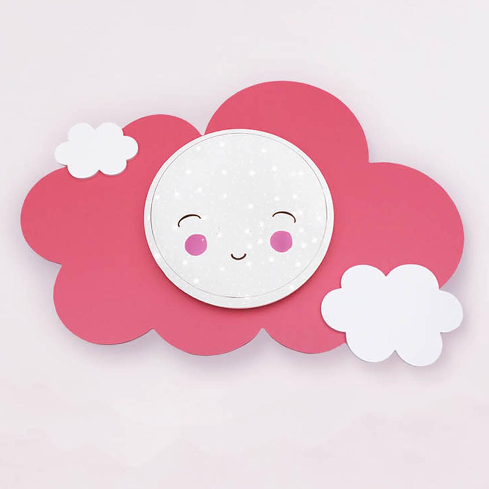 LED-Wandleuchte Bildwolke Starlight Smile, rosa