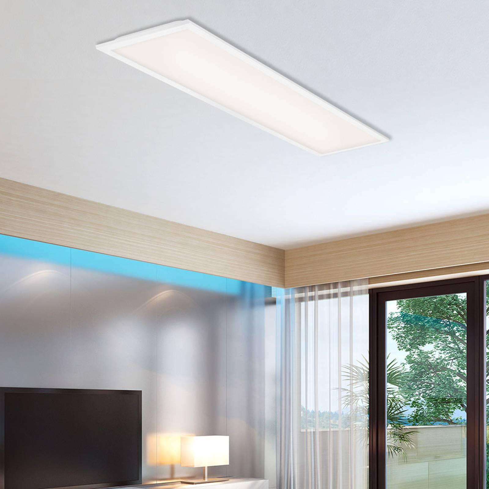 Pannello LED Simple, bianco, ultrapiatto, 100x25cm