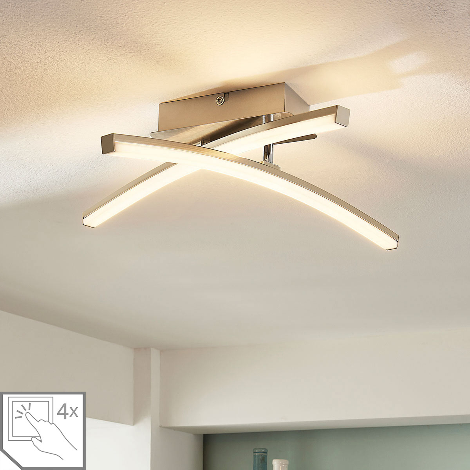 4-stufig dimmbare LED-Deckenlampe Laurenzia