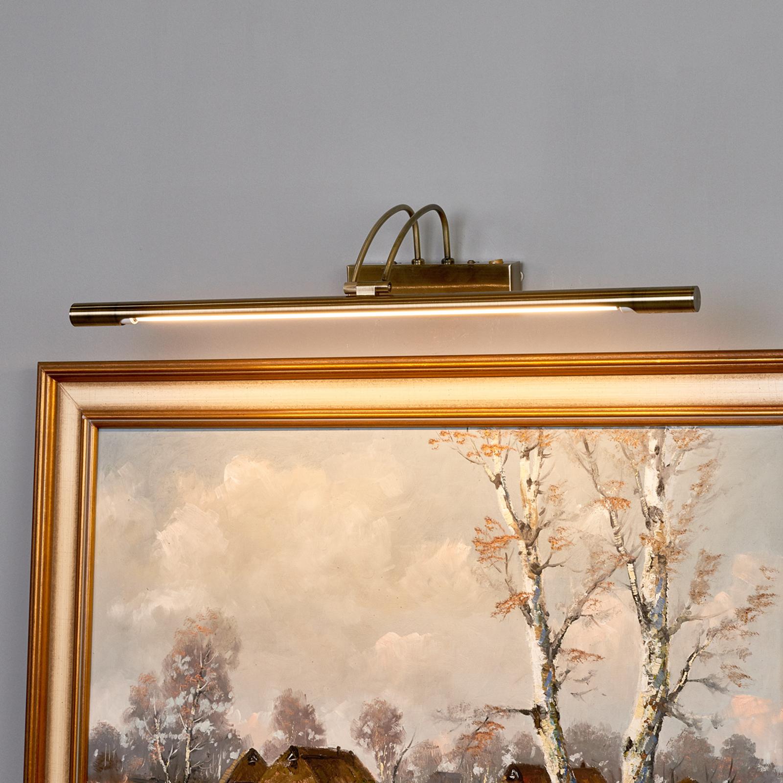 LED-tavelbelysning Piktura, antikmässing