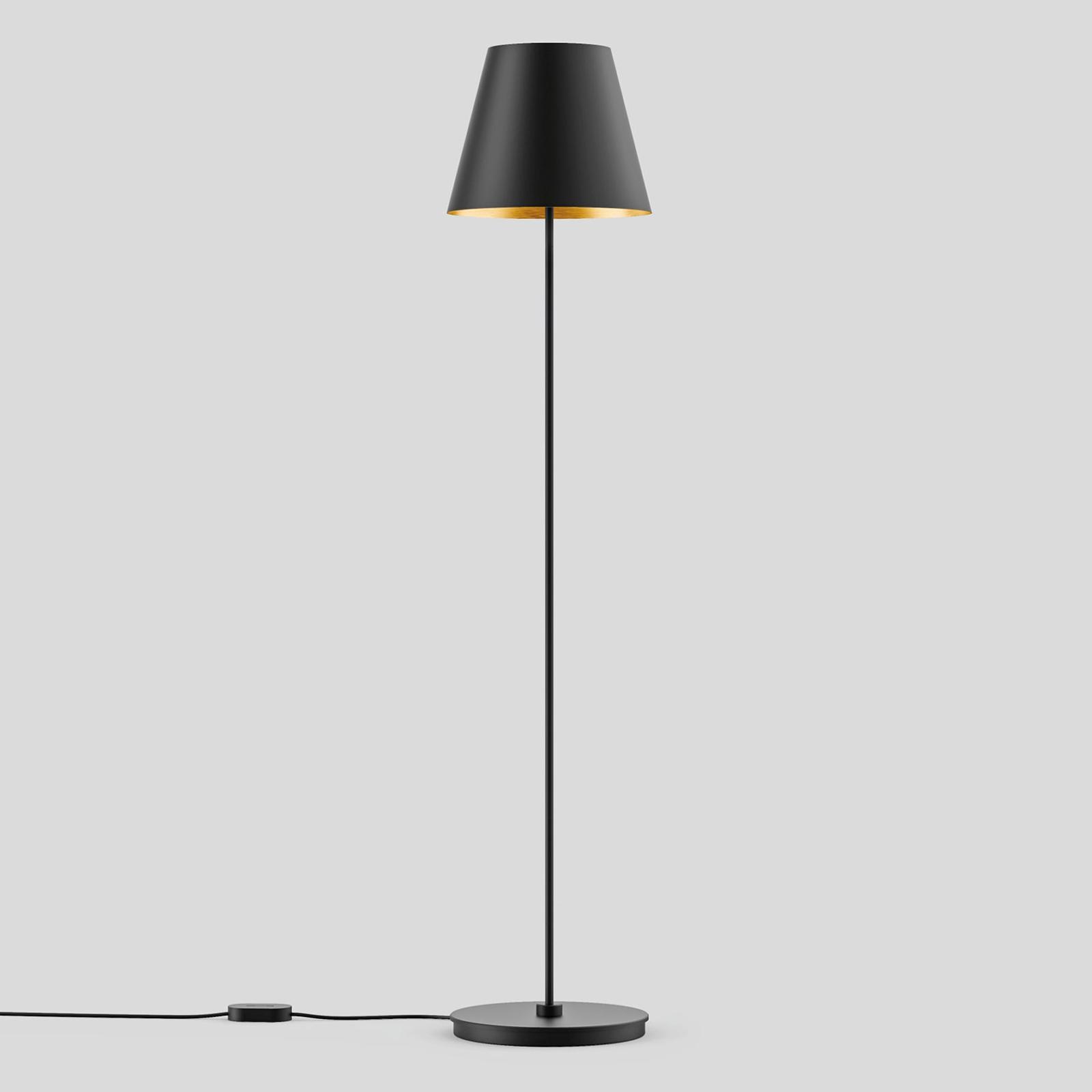 BEGA Studio Line Stehlampe schwarz/messing 150cm