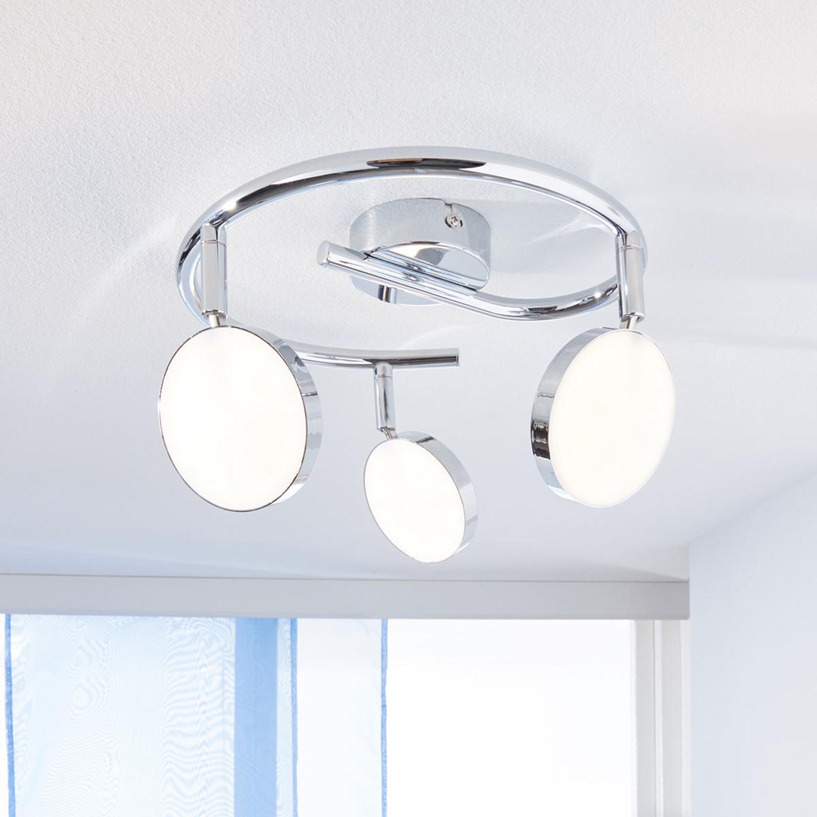 LED-kattokohdevalo Keylan 3-lamppuinen, pyöreä