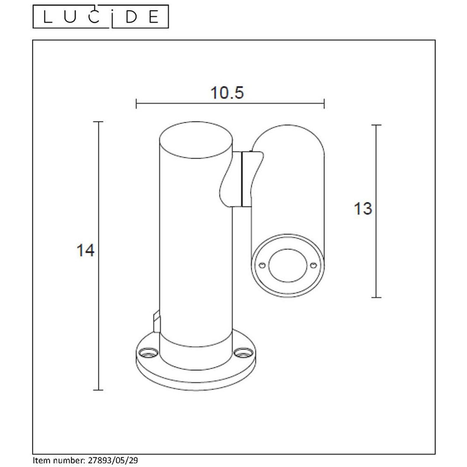 LED-Sockelleuchte Tatum mit drehbarem Spot, 14 cm