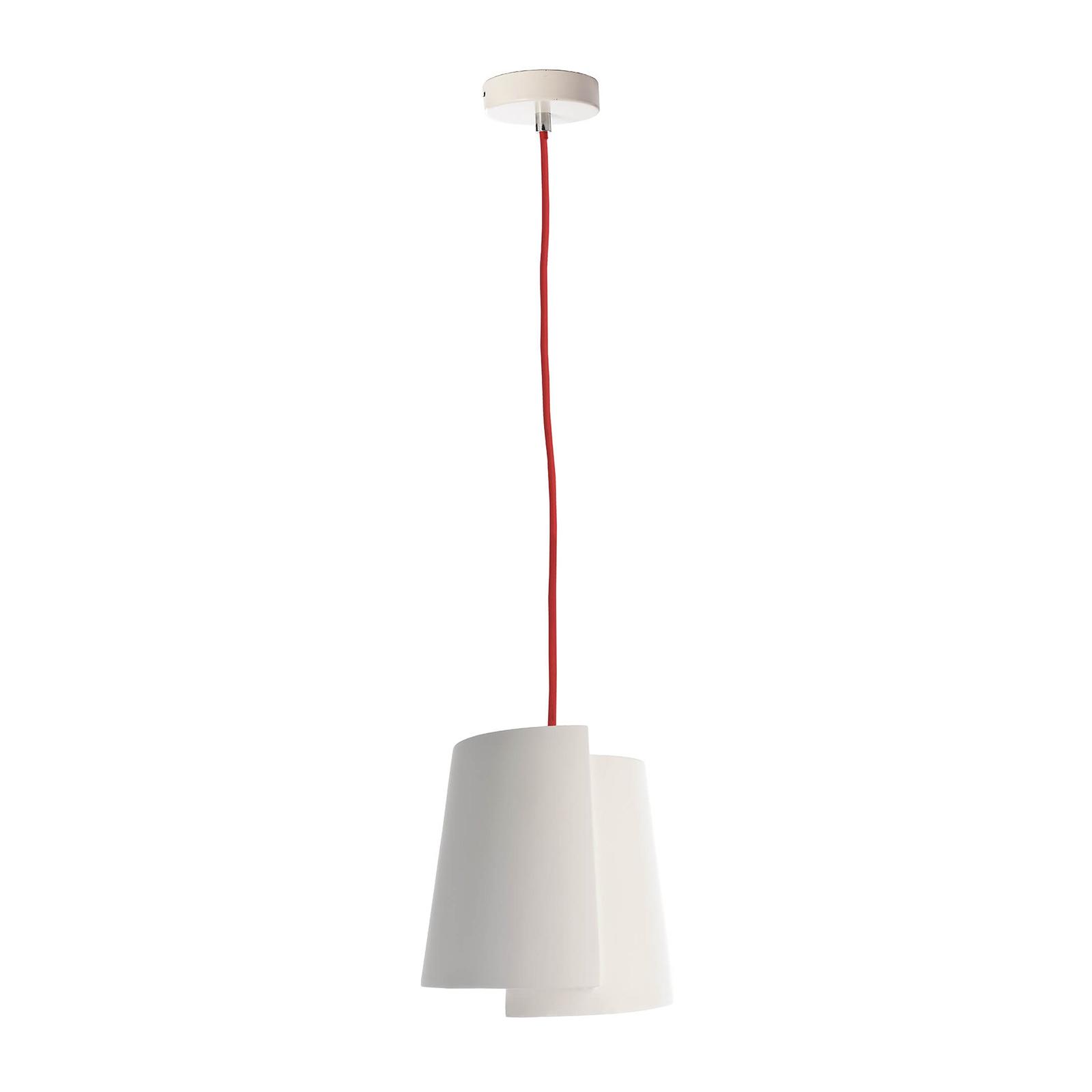 Hanglamp Twister I, wit, Ø 18 cm