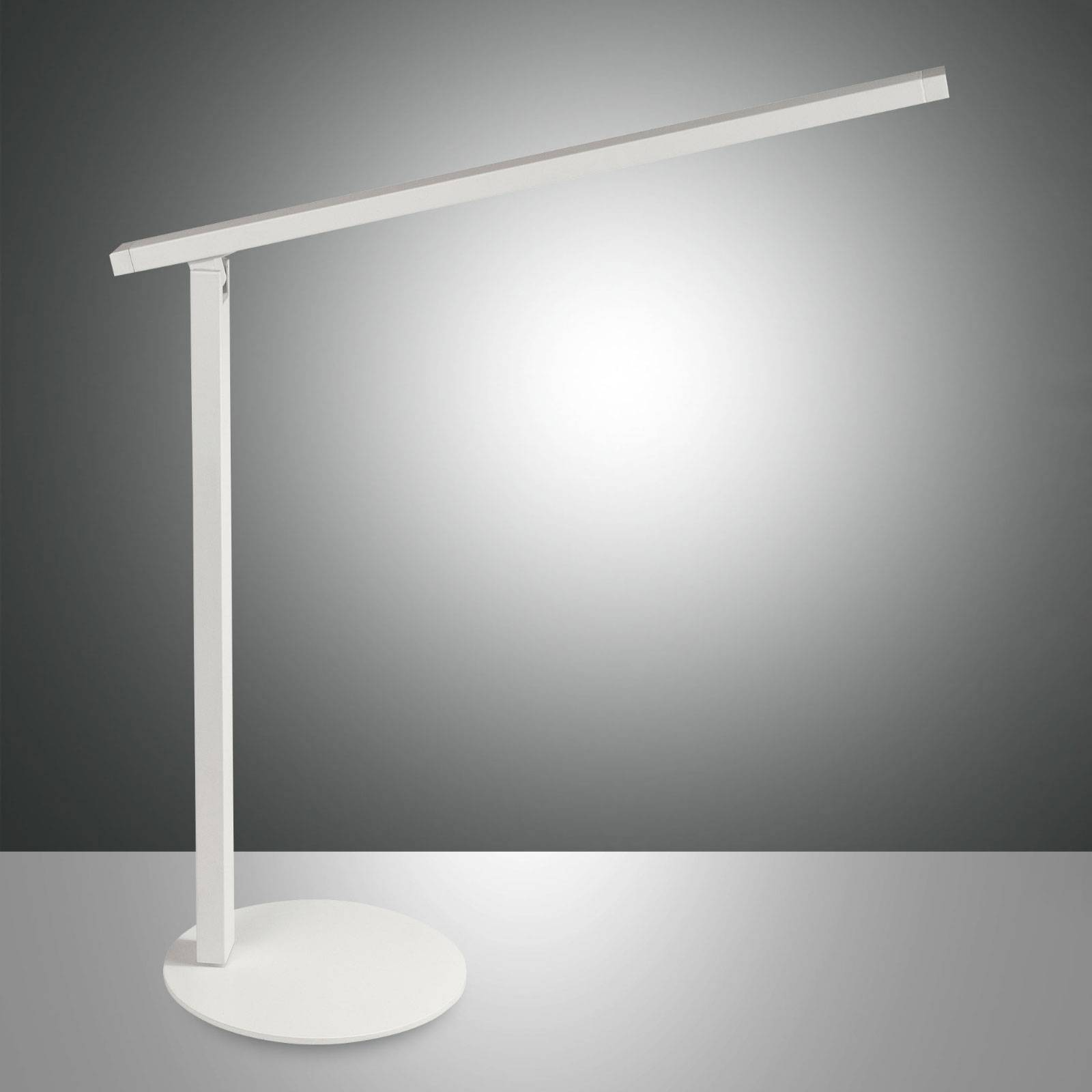 LED bureaulamp Ideal met dimmer, wit