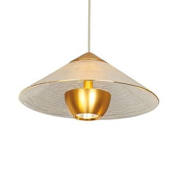 LED-Hängeleuchte Glamour aus Glas, gold / klar