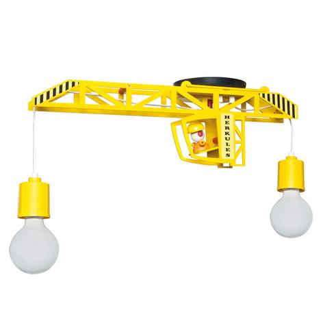 Loftlampe Bodo formet som en kran