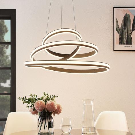 Lucande Emlyn lámpara colgante LED, 80 cm