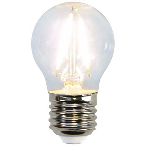 LED-miniglobe-lamp E27 G45 2W 2.700K filament