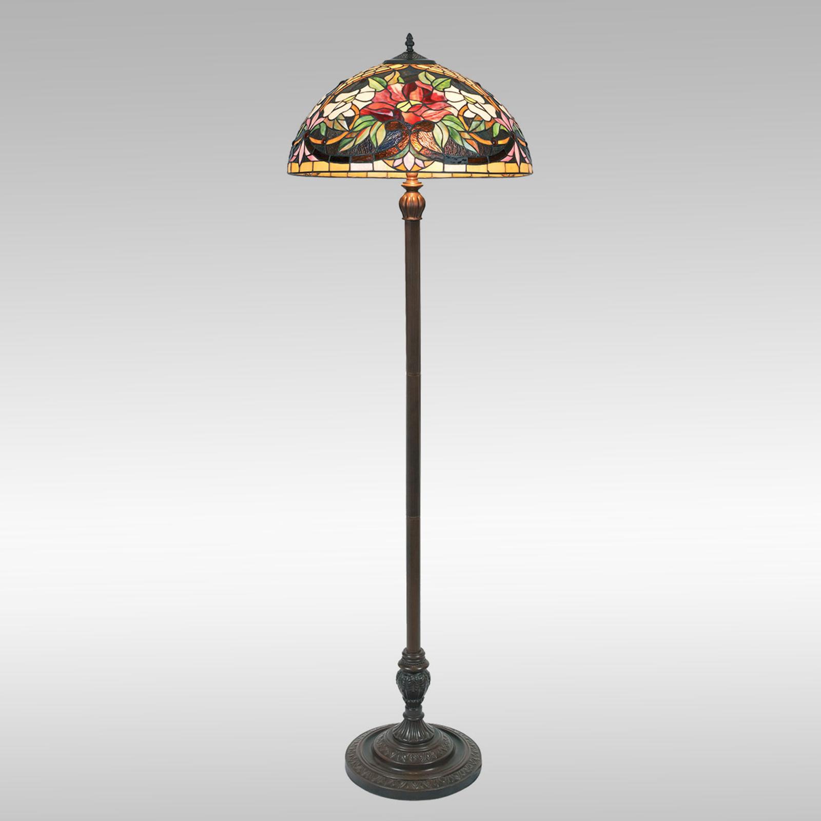 Kleurrijke vloerlamp ARIADNE in Tiffany-stijl
