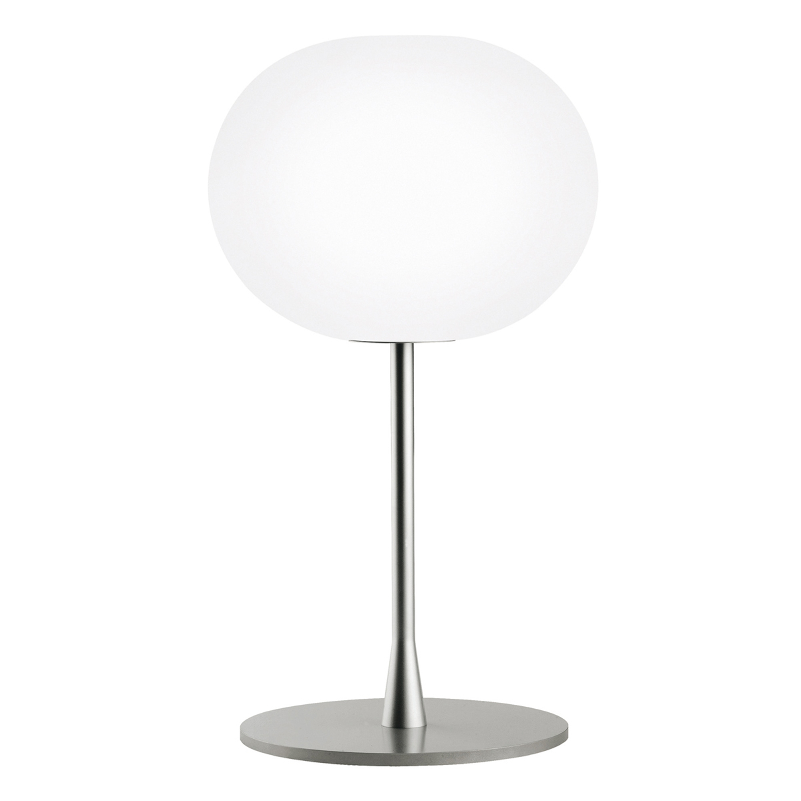 FLOS Glo-Ball Table 1 Tischleuchte, silber matt