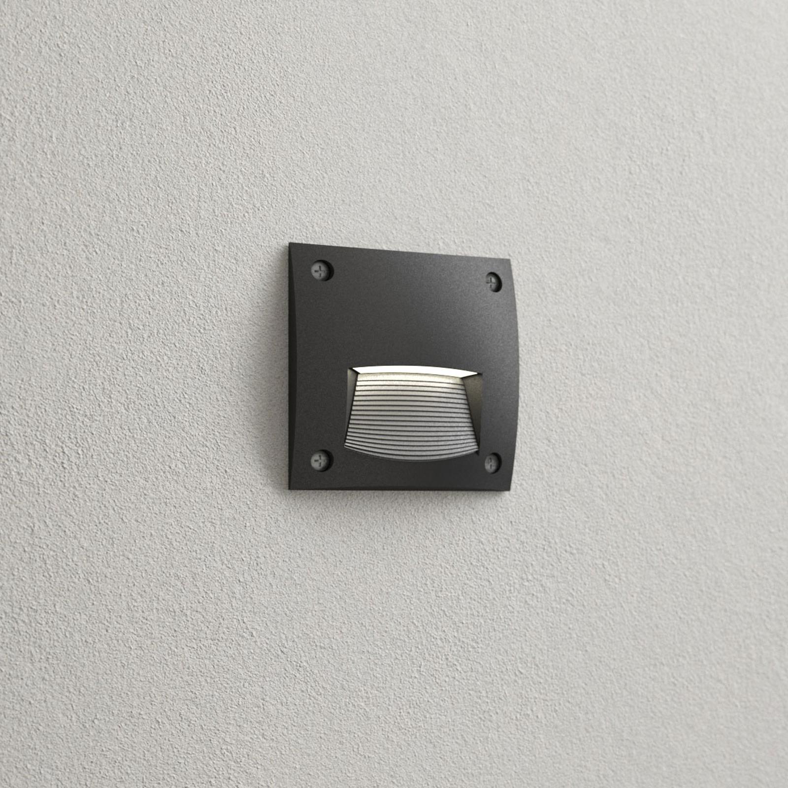 Leti 100 Square-ST innfellingslampe svart, 3000K