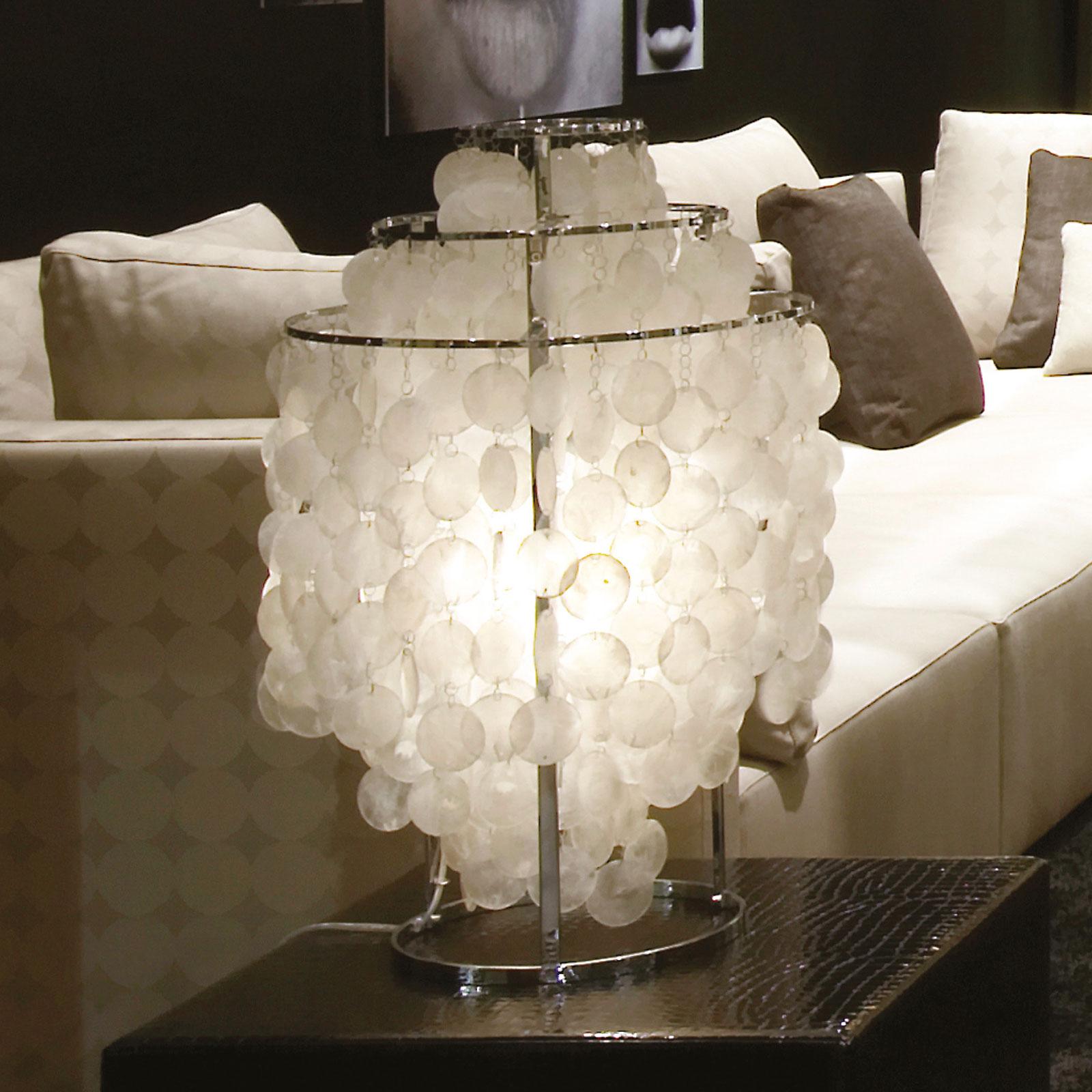 VERPAN Fun 2TM - lampe à poser nacre, chromée