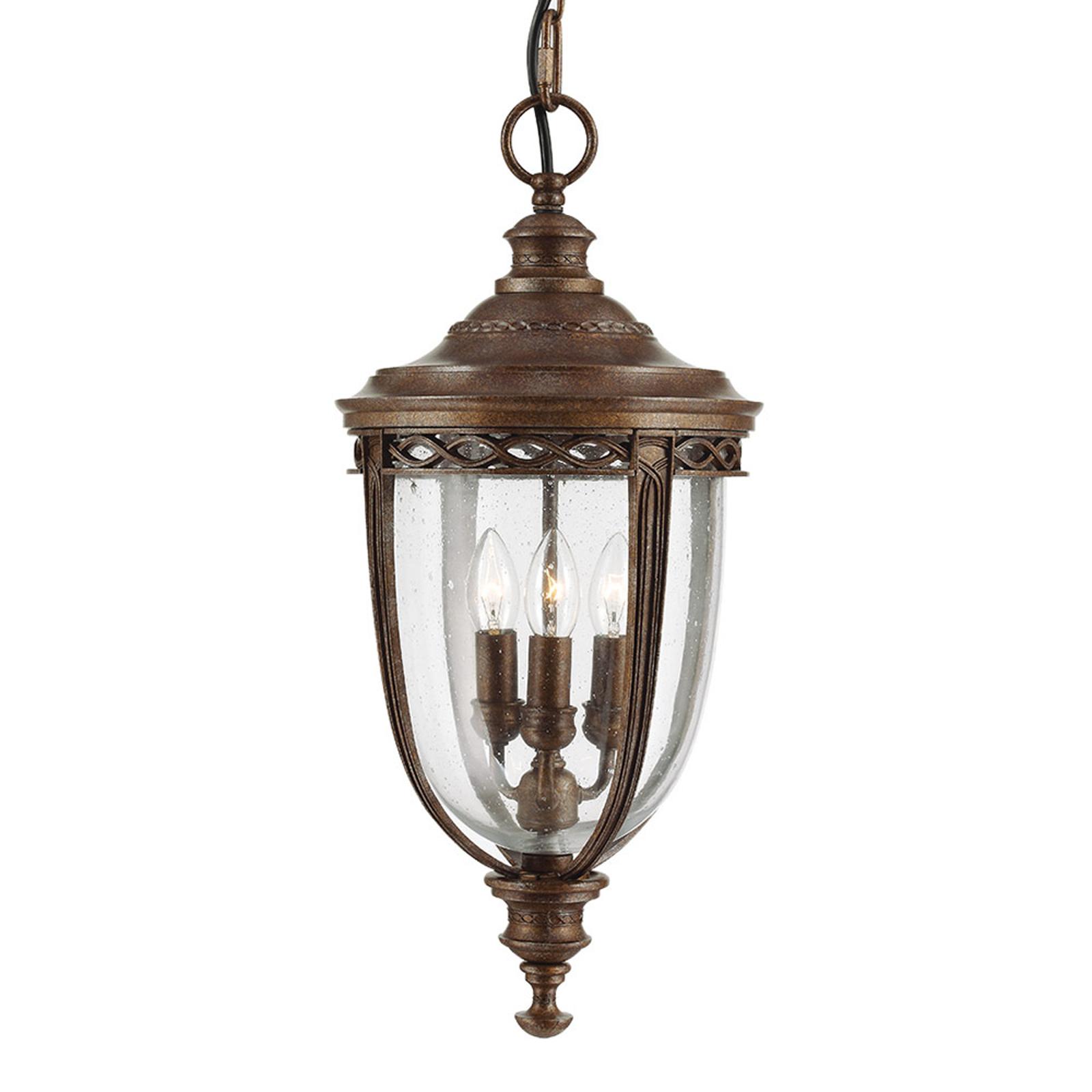 Hanglamp English Bridle voor buiten, brons