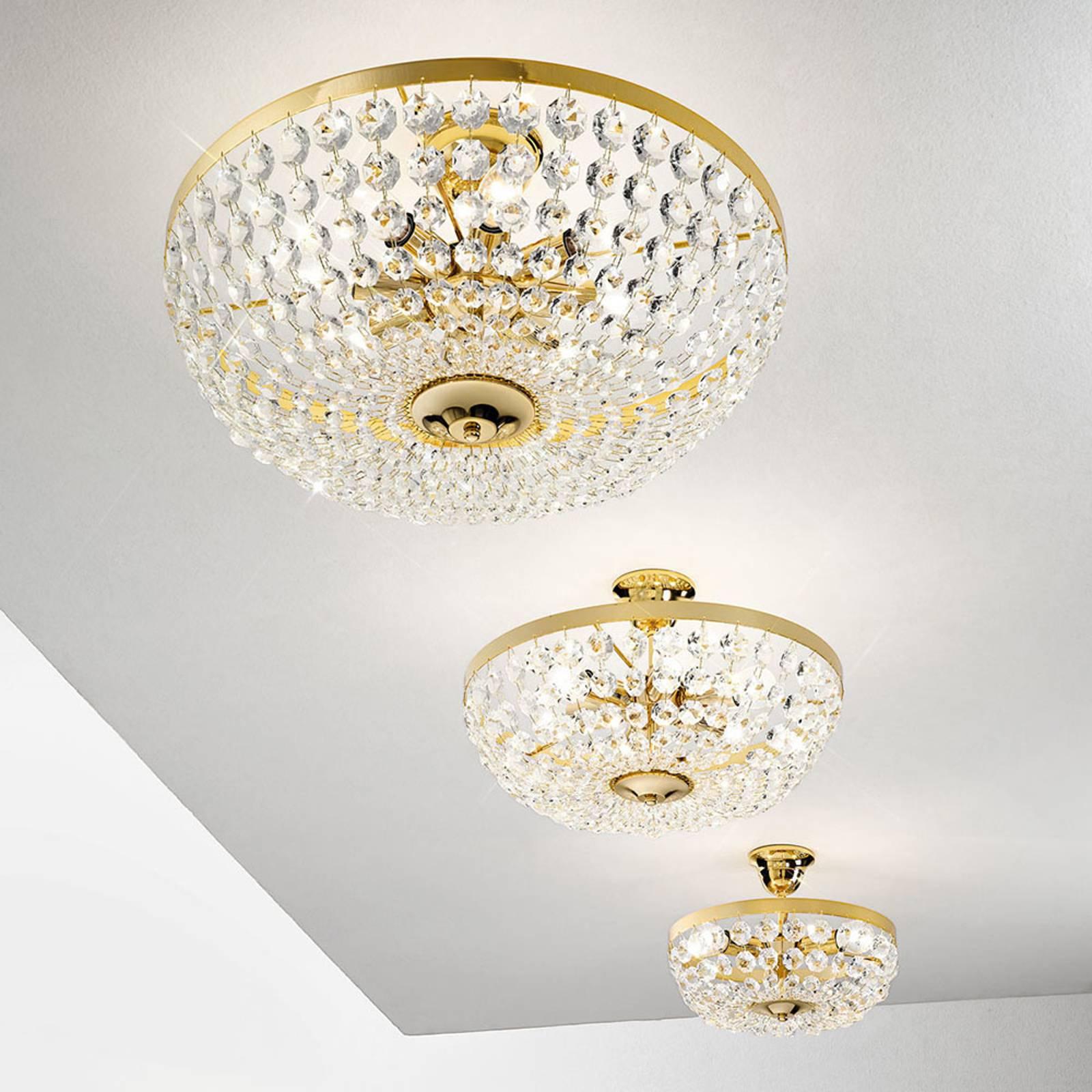 Plafondlamp Valerie, goud, Ø 50 cm