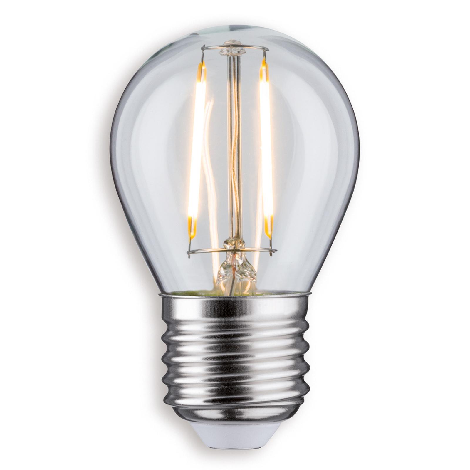 E27 2,5W 827 LED-dråpelampe klar