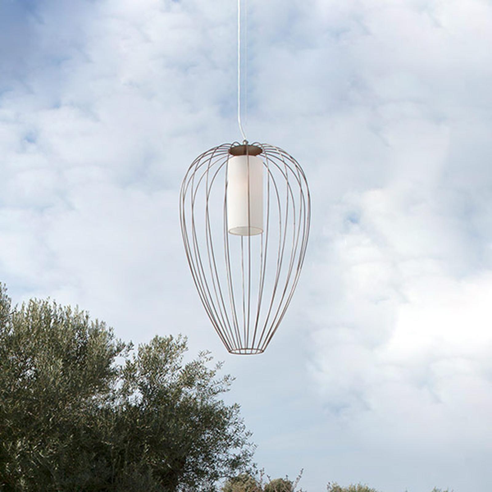 Karman Cell - klatkowa lampa wisząca Ø55cm brązowa