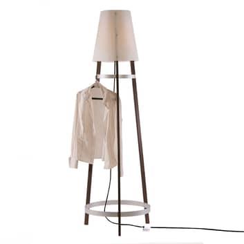 Stojací lampa Wai Ting kabel antracit maron