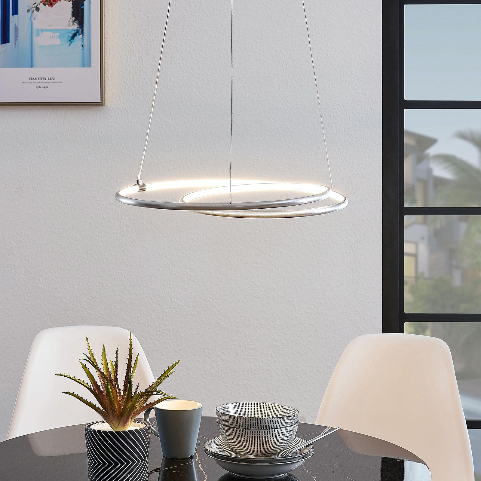 Lindby Lucy lampa wisząca LED, 45cm, aluminium