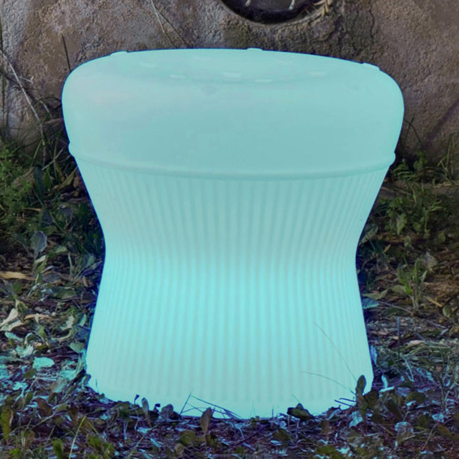 Newgarden Corfu LED-Hocker 40cm Solar+Akku