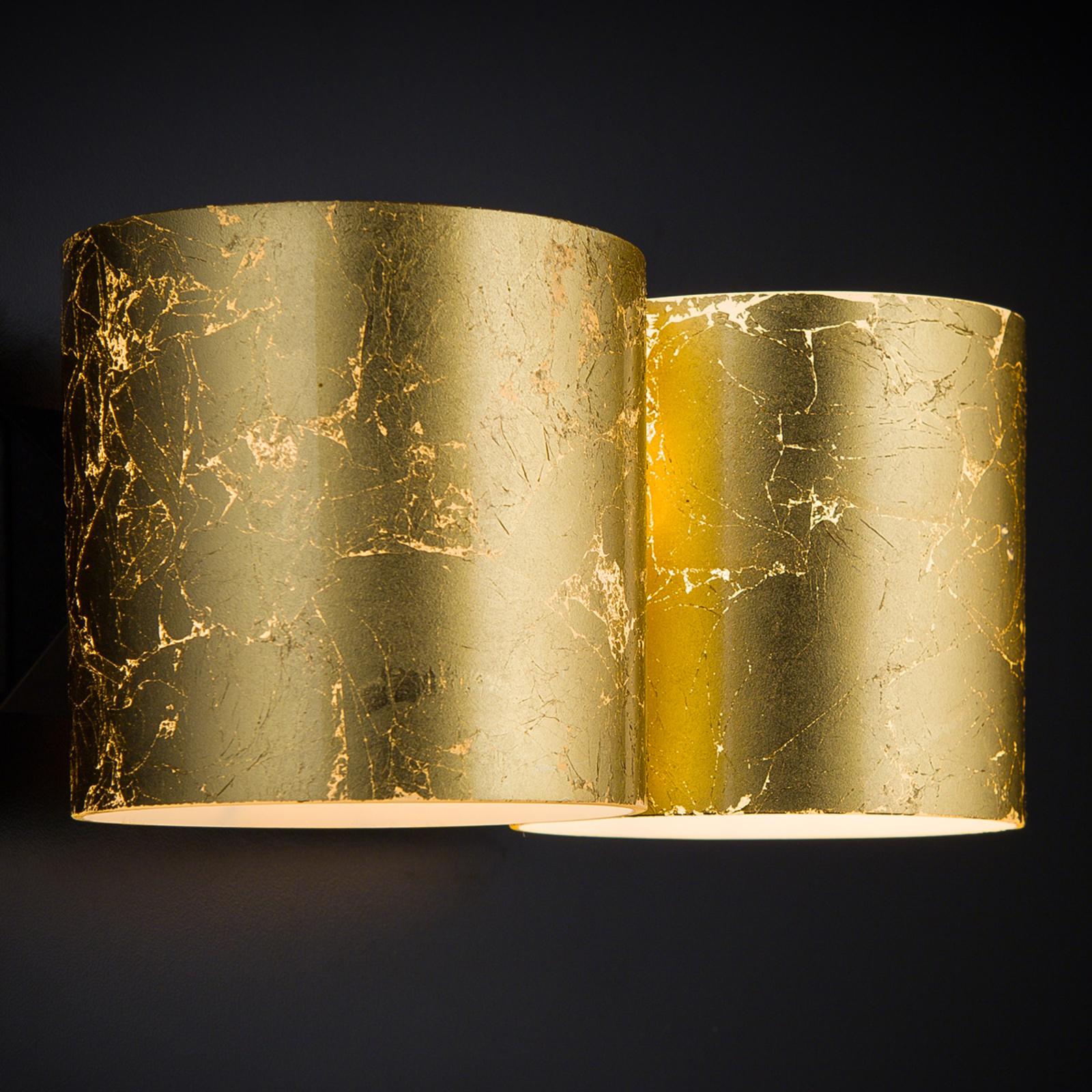 Wandlamp Brick met bladgoud, 2-lamps