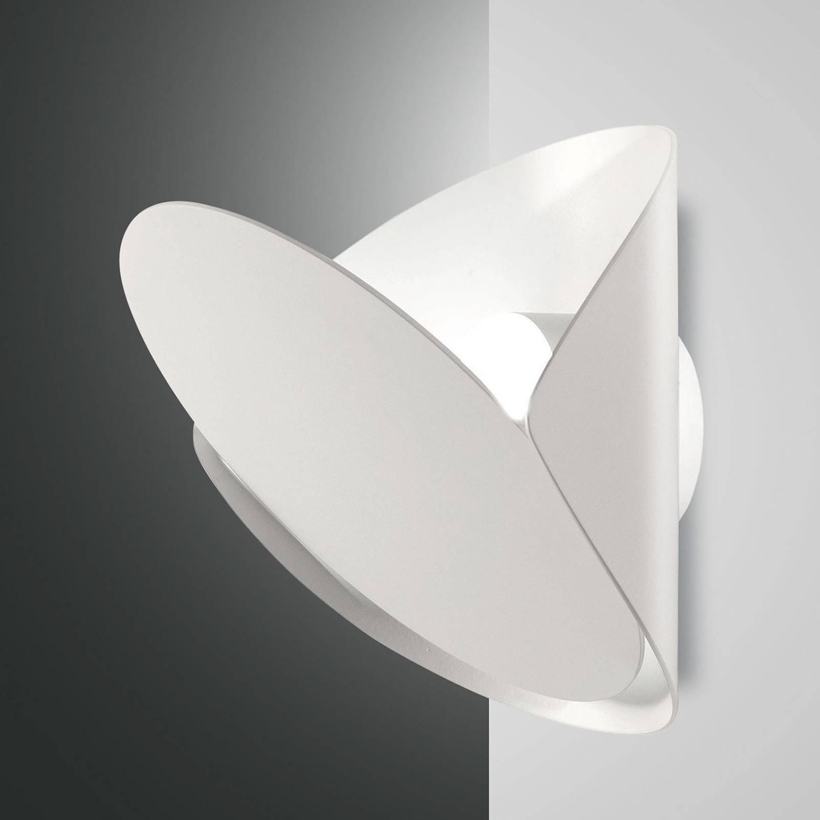 LED-Wandleuchte Shield, dimmbar, weiß
