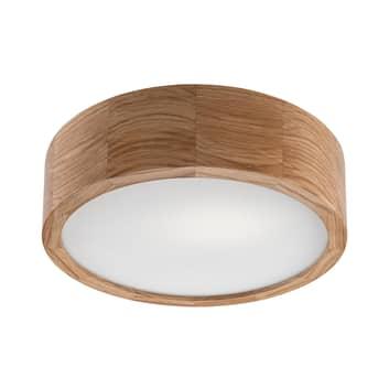 Kerio loftlampe, Ø 27 cm, mørk eg
