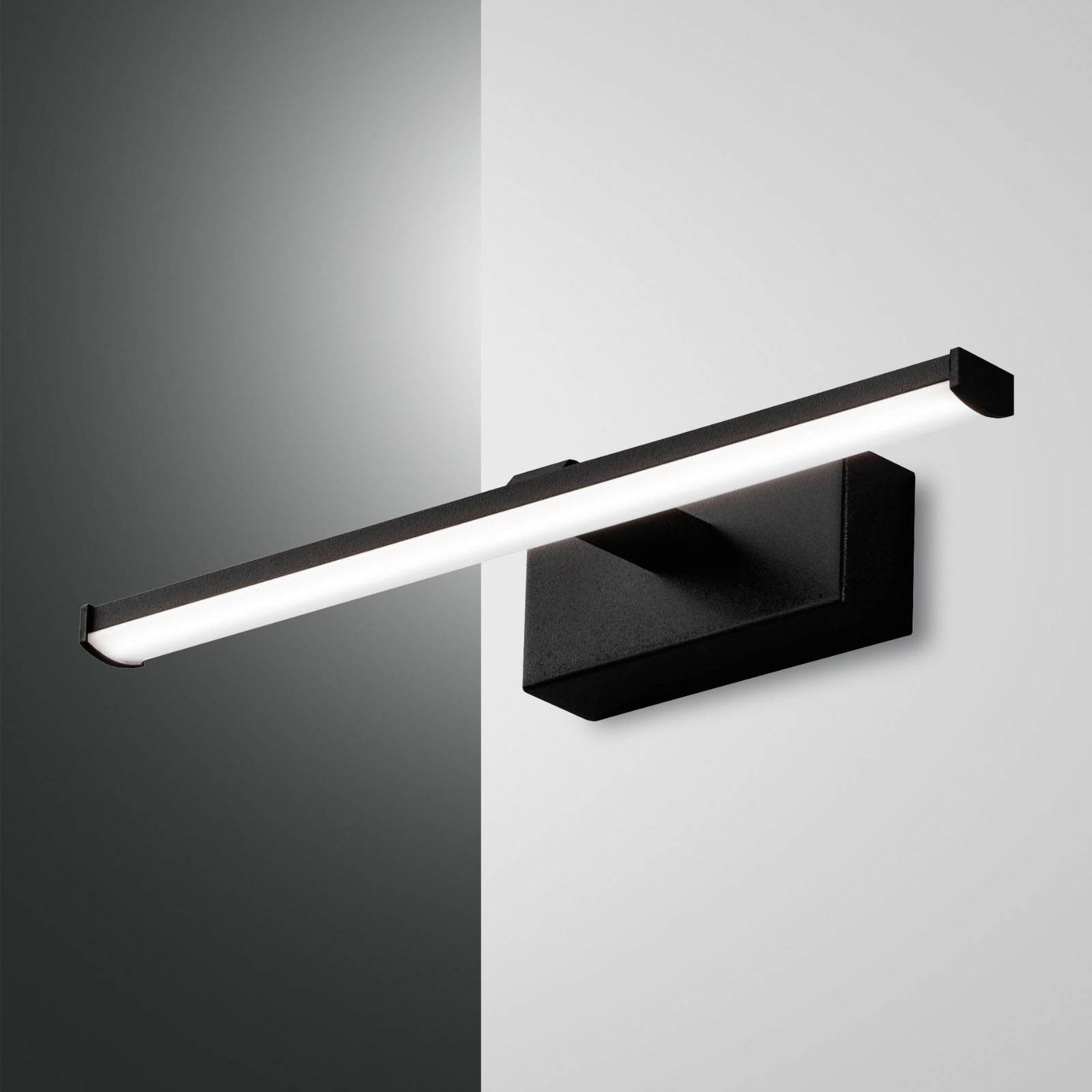 Applique LED Nala, noire, largeur 30cm