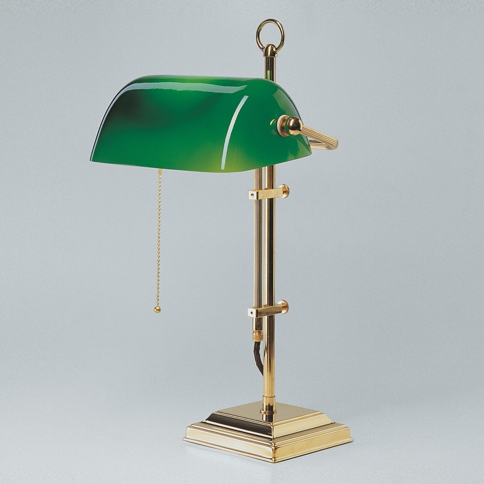 Lampa bankierska GITA z polerowanego mosiądzu