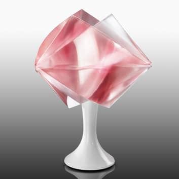 Gemmy Prisma - bordlampe i rubinrød